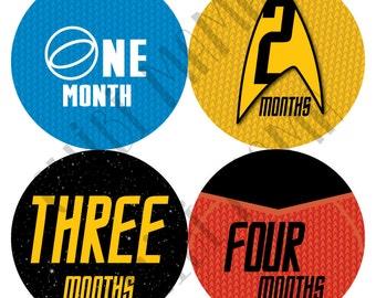 Star Trek Monthly Stickers, Star Trek Milestone, Baby Star Trek Sticker, Baby Movie Gift, Baby Geek Gift