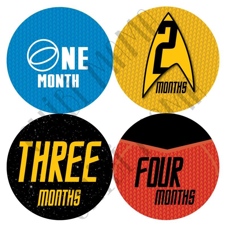Free Shipping to US Star Trek Monthly Stickers Star Trek image 0