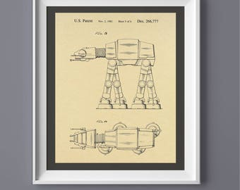 Star Wars Walker Patent Print, Printable Art, Printable Poster,  INSTANT DOWNLOAD