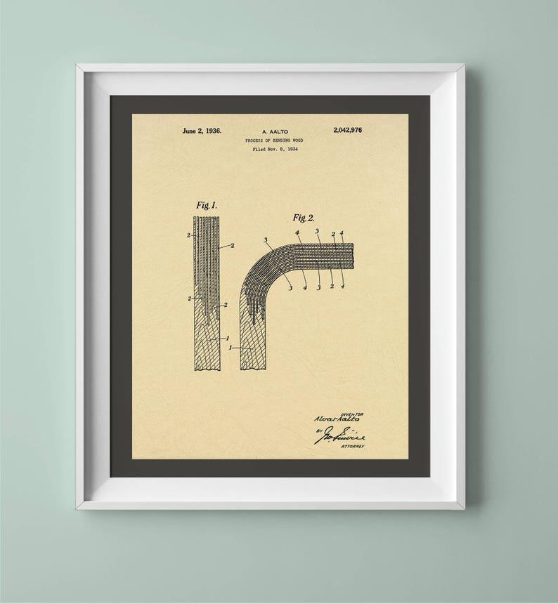 Vintage Alvar Aalto Patent Print Vintage Printable Vintage image 0