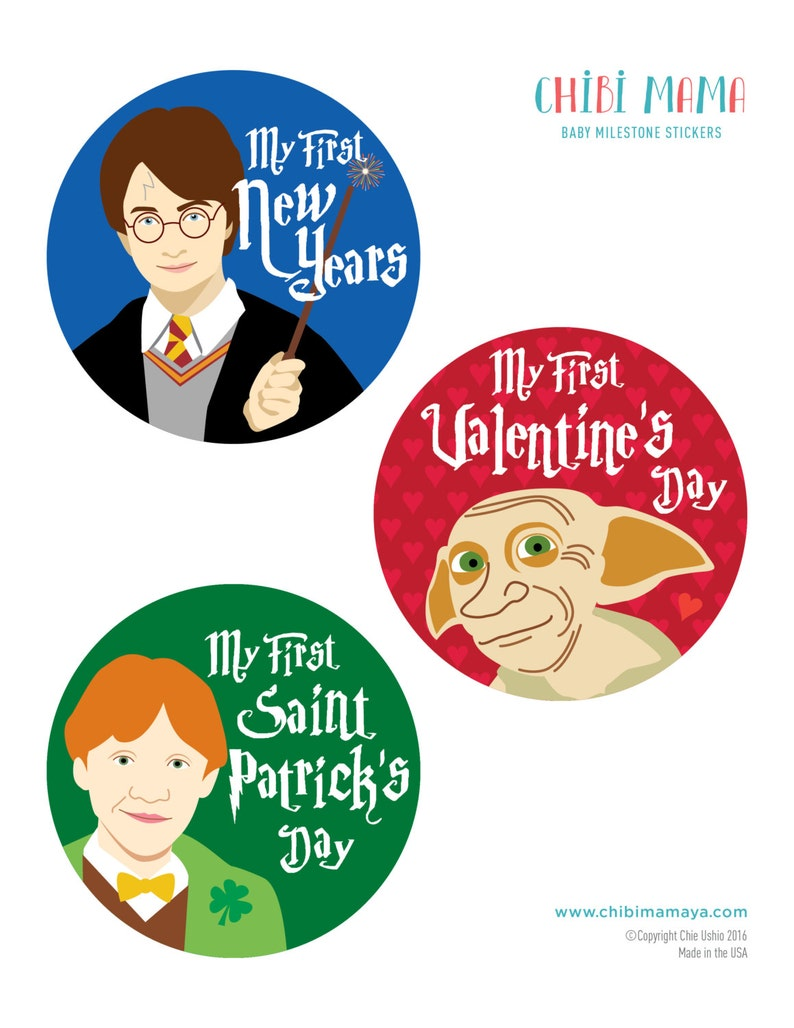 Free Shipping to US Harry Potter Holiday Stickers Baby image 0