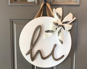 white front door hanger door hanging decor sign for front door wood door decor round wood sign front door wreaths year round new home