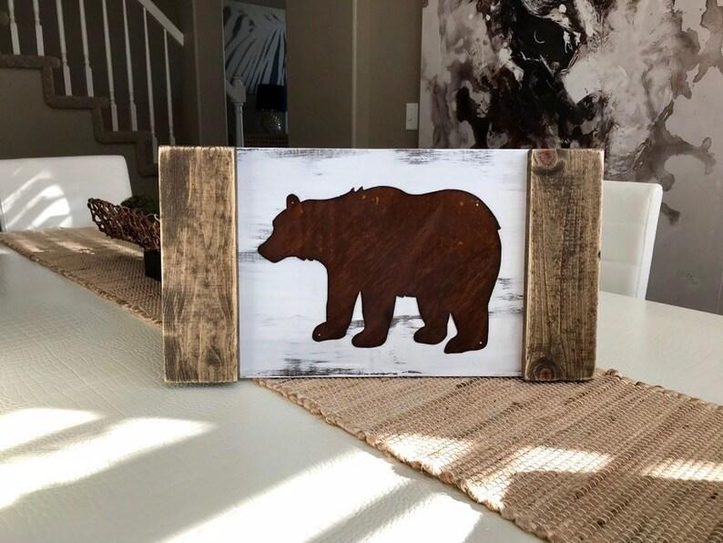 woodland animal home decor bear decor cabin decor rustic home decor woodland animal etsy  bear decor cabin decor rustic home