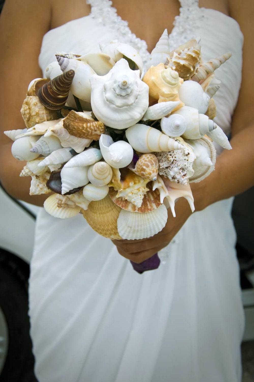 Seashell Bouquet Wedding Bouquet Alternative Bouquet Beach Etsy