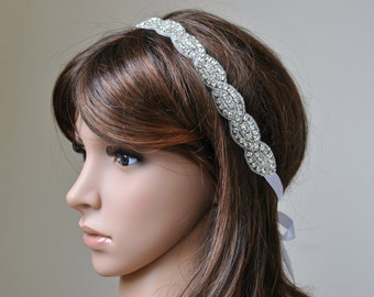 Wedding headpiece, headband, EMMA, Rhinestone Headband, Wedding Headband, Bridal Headband, Bridal Headpiece, Rhinestone