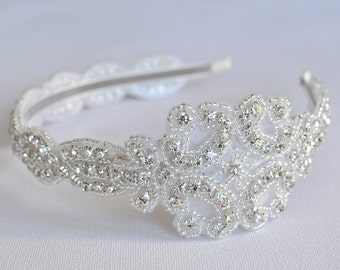 Wedding headpiece, headband, CHLOE, Rhinestone Headband, Wedding Headband, Bridal Headband, Bridal Headpiece, Rhinestone