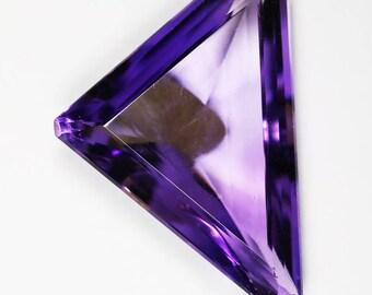18.20 carat Triangle Natural Amethyst 28.65 mm X 18.22 mm X 8.38 mm