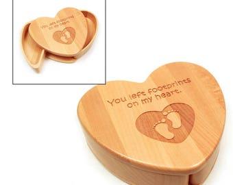 Maple Heart Keepsake Box