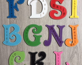 Violet autoportante 13 cm Large en bois lettres chiffres et /& Signes