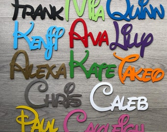 DISNEY STYLE Personalised Acrylic Mirror Name Plaques//Word//Letters//Wall//Door Art
