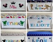 Personalised toy box, custom, bespoke, wooden, toy box, Large, toybox, girls, boys, children, star, toy chest, elephant, kids, nursery
