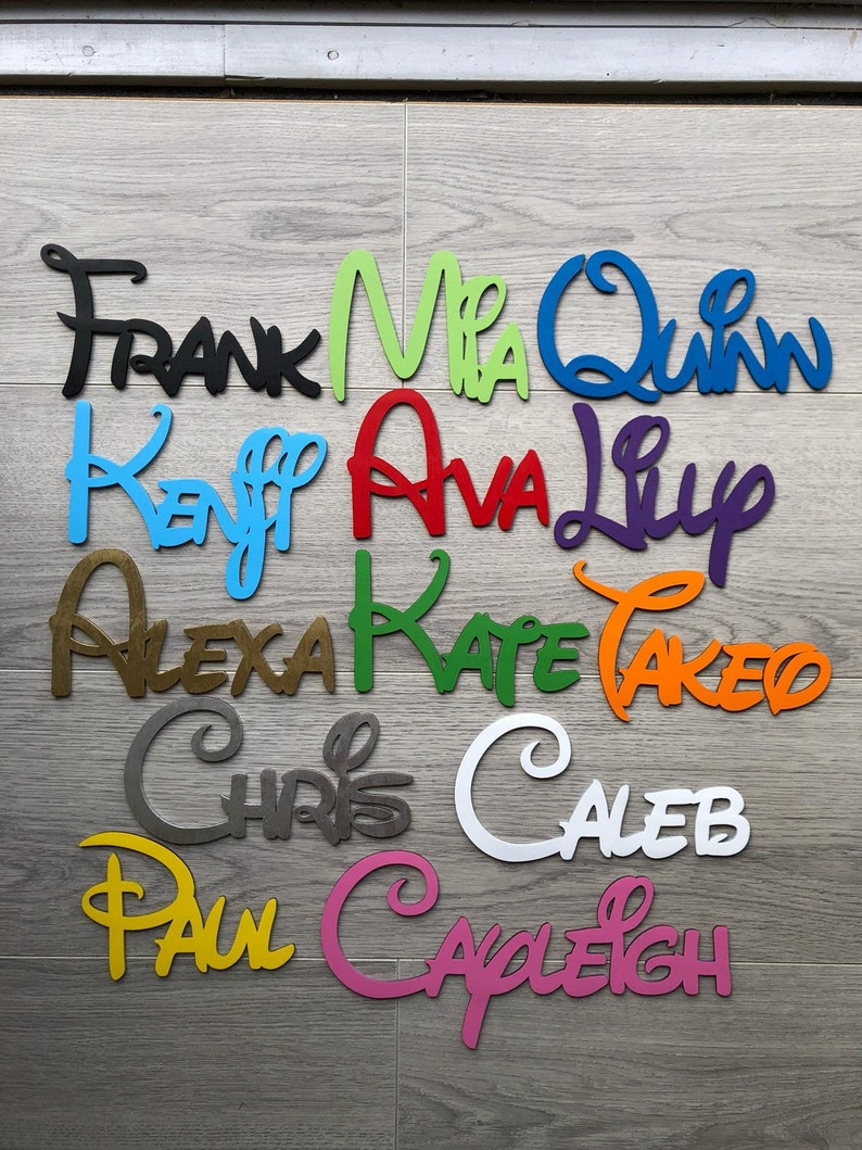 Personalised wooden names Disney font Laser cut only 99p image 0