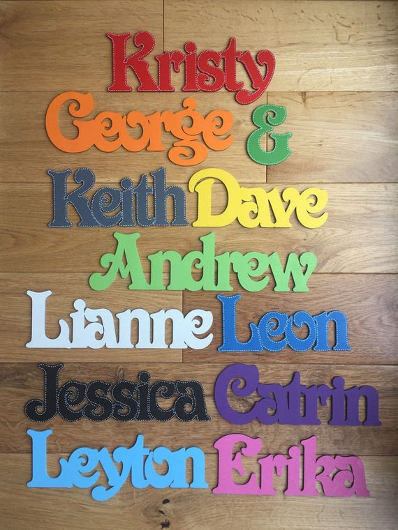 Wooden Words//Letters Personalised Names Wedding//Home//Gift BIRCHPLY WALL ART