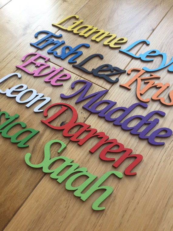 Smile Wooden Script Words Decorative Letters Wall Door Plaque Sign Unpainted MDF