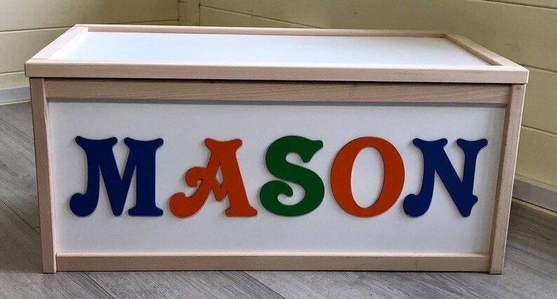 Personalised Toy Box storage chest wooden