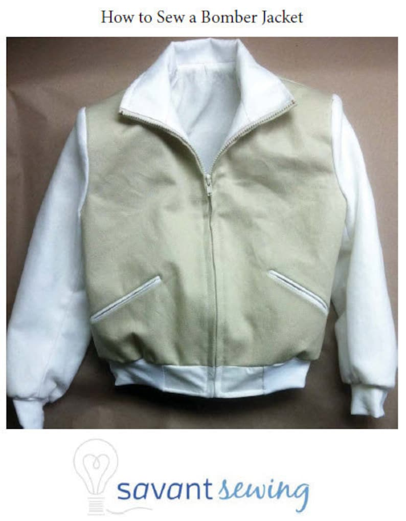 Sewing instructions for men's bomber jacket 12601 & 12602 image 0
