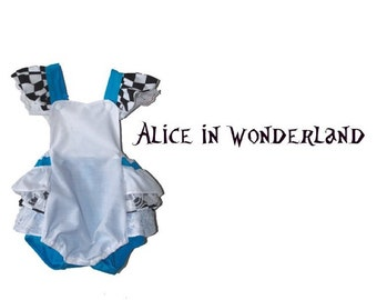 Disney's Alice in Wonderland Outfit Baby Romper Little Girl Toddler Halloween Birthday Costume