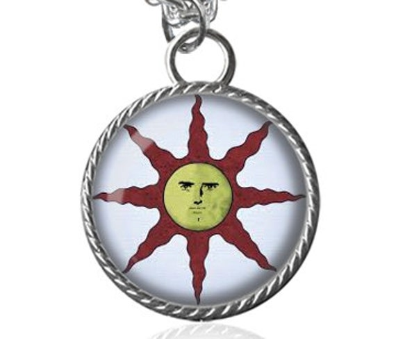 Dark souls solaire of astora sun necklace dark souls of etsy image 0 aloadofball Image collections