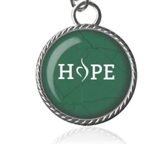 Hope Necklace Eating Disorder Awareness Bulimia Recovery Etsy
