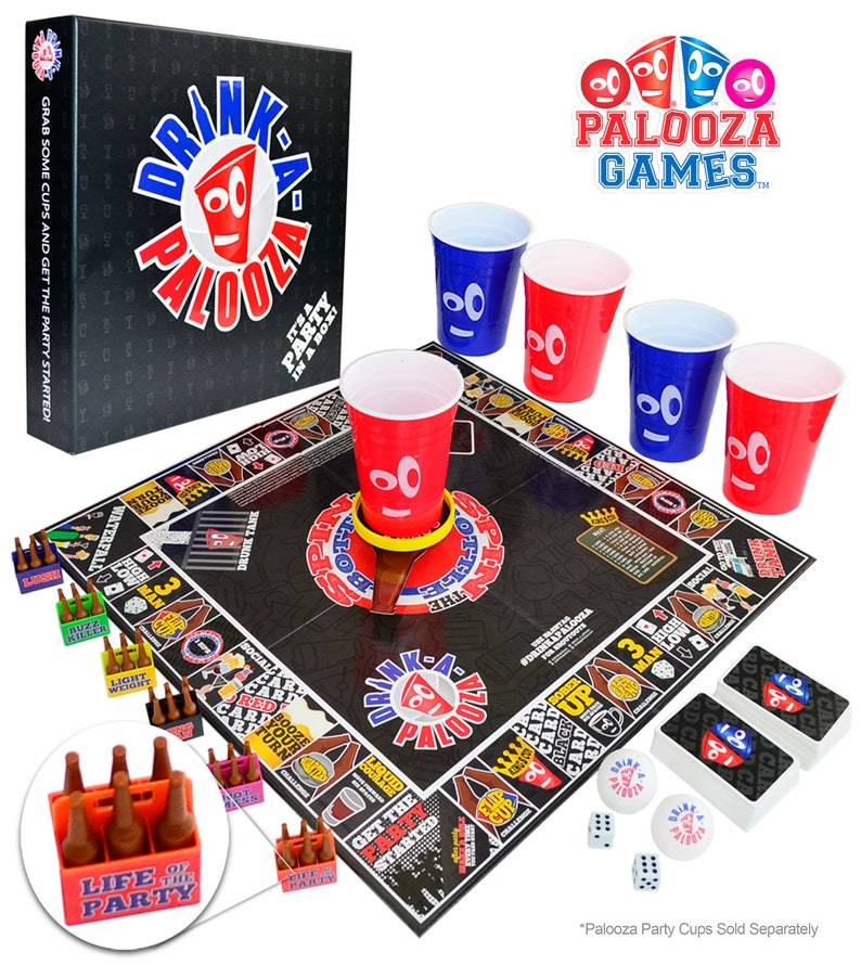 DRINK-A-PALOOZA Drinking Board Game: Game Night Party Games image 1