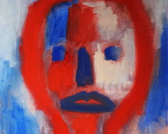 Red and Blue Face