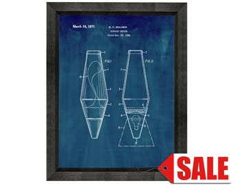 Lava Lamp 1971 Ready To Be Framed! Patent Print Art Print