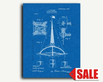 Patent Print - Floating Lighthouse Patent Wall Art Poster