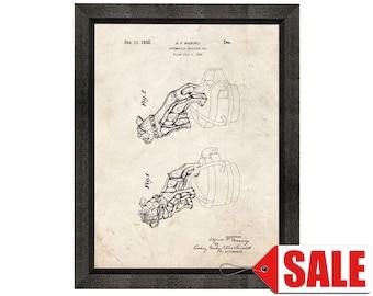 Mack Truck Radiator Cap Patent Print Poster - 1932 - Historical Vintage Wall Art - Great Gift Idea