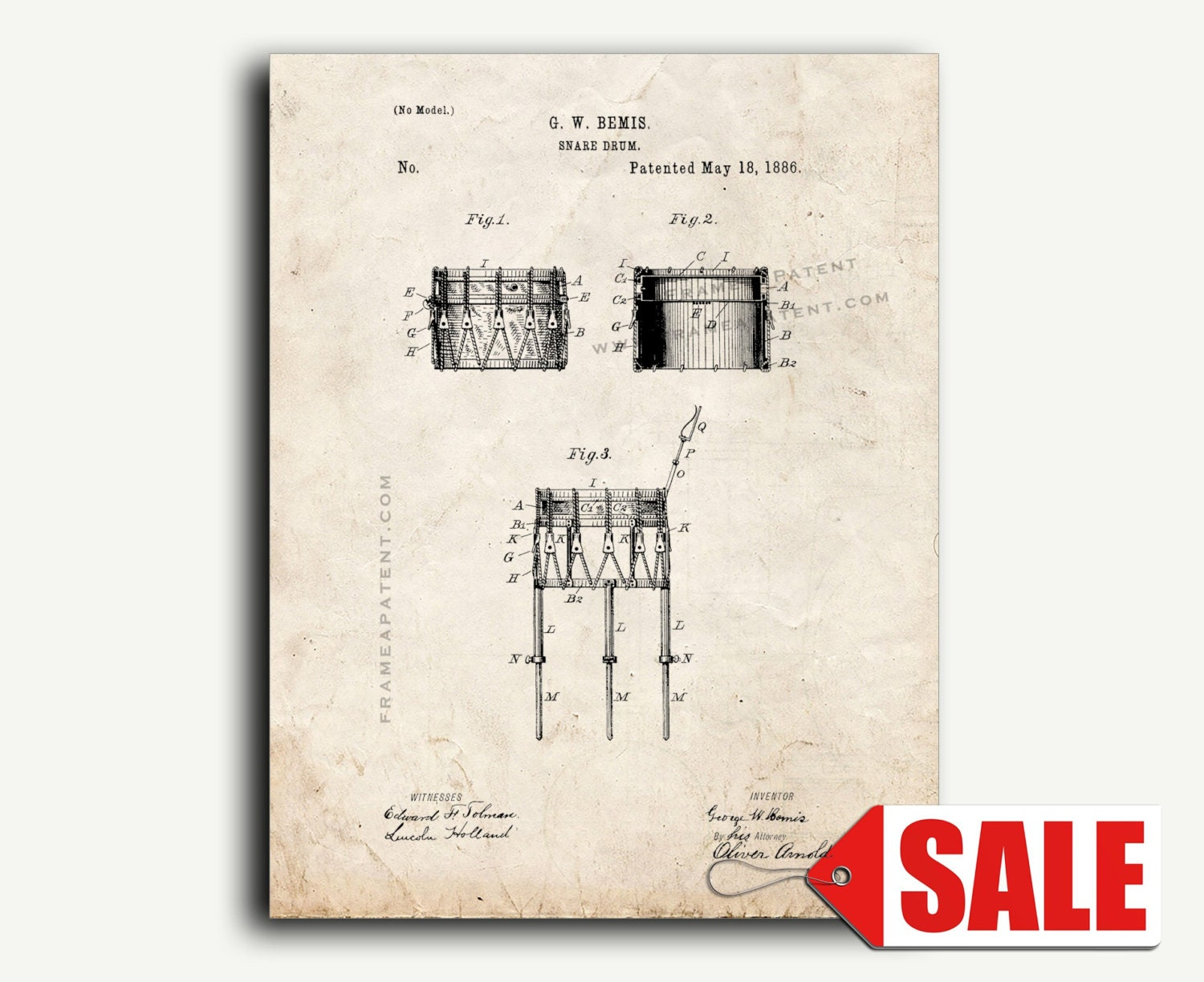 Patent Art Print Snare Drum Wall Poster Etsy Diagram