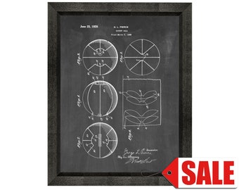 Basketball Patent Print Poster - 1929 - Historical Vintage Wall Art - Great Gift Idea