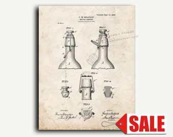 Patent Art - Bottle Stopper Patent Wall Art Print