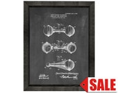Dumbbell and Indian Club Patent Print Poster - 1906 - Historical Vintage Wall Art - Great Gift Idea