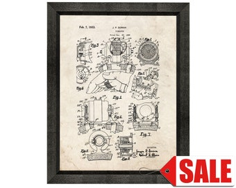 Vibrator Patent Print Poster - 1933 - Historical Vintage Wall Art - Great Gift Idea