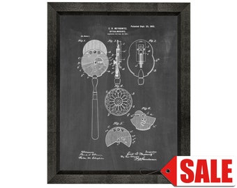 Eye Doctor's Ophthalmoscope Patent Print Poster - 1902 - Historical Vintage Wall Art - Great Gift Idea