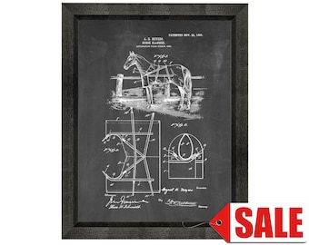 Horse Blanket Patent Print Poster - 1905 - Historical Vintage Wall Art - Great Gift Idea