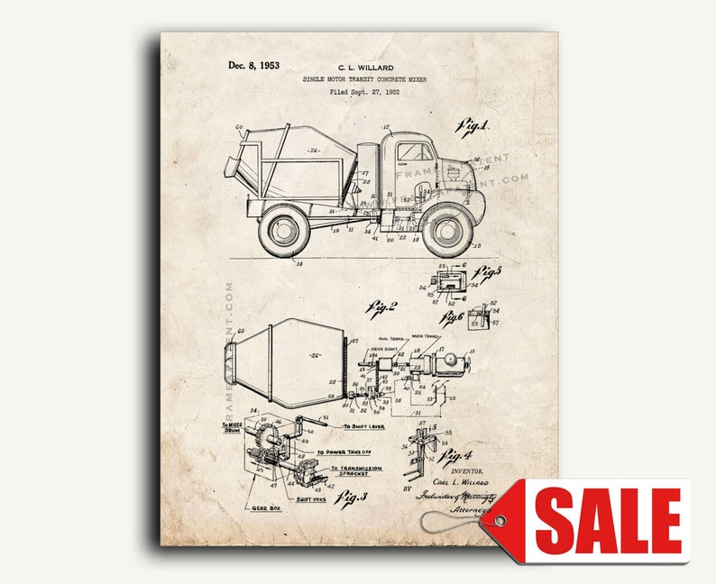 Old Cement Mixer Schematic Diagrams on