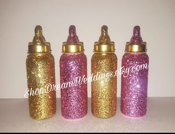Peachy 4Pcs Gold Glitter Baby Bottles Cake Table Decor Babyshower Baby Birthdays Royal Prince Royal Princess Bling Baby Bottles Table Decor Home Interior And Landscaping Spoatsignezvosmurscom