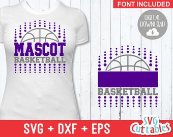 cc09b0aa1a4 Basketball SVG - Basketball Template 0016 - svg - eps - dxf - Basketball  Team svg - Silhouette - Cricut Cut File - svg Files - Digital File