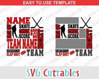 Hockey Svg Subway Art SVG DXF EPS Cut File Template Sticks Silhouette Cricut Digital Download