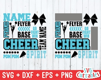 Cheer Svg Cheer Subway Art Svg Dxf Eps Competitive Cheer Etsy