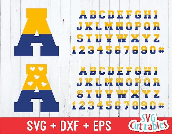 Sport Alphabet Svg Two Color Sport Split Svg Eps Dxf Etsy