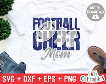 Cheer Mom and Football Mom svg - Football Mom svg - eps - dxf - png - Cheer Mom - Cut File - Silhouette - Cricut - Digital Download