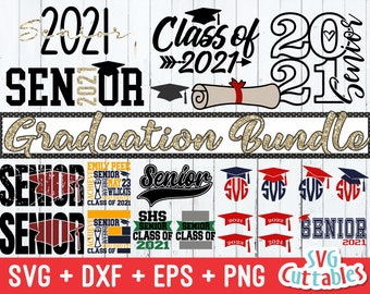 Graduation svg Bundle  - Senior svg - Graduation Cut File - svg - eps - dxf - png -  Monogram Frame - Silhouette - Cricut - Digital Download