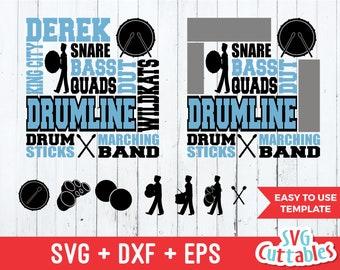 Drum Line svg, drumline svg, band svg, Drum line subway art svg, dxf, eps, svg template, silhouette, cricut cut file, digital download