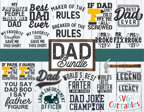 Dad Bundle Svg Father S Day Funny Dad Shirt Designs Etsy