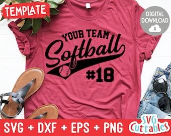 softball girl svg