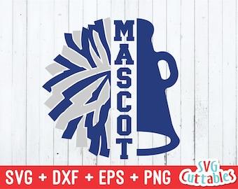 Cheer svg - Megaphone svg - Pom Pom - Cheer Cone svg - eps - dxf - png - Cheerleader svg - Cut File - Silhouette - Cricut - Digital File