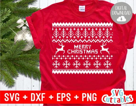 design senza tempo 03891 d9457 Maglione di Natale svg - brutto maglione - Merry Christmas - Cut File - SVG  - DXF - EPS - Silhouette - Cricut Cut File - Digital Download