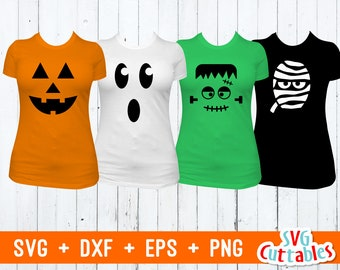 Pumpkin svg - Ghost svg - dxf - eps - Frankenstein - Mummy - Halloween SVG - Silhouette - Cricut Cut File - Digital Download