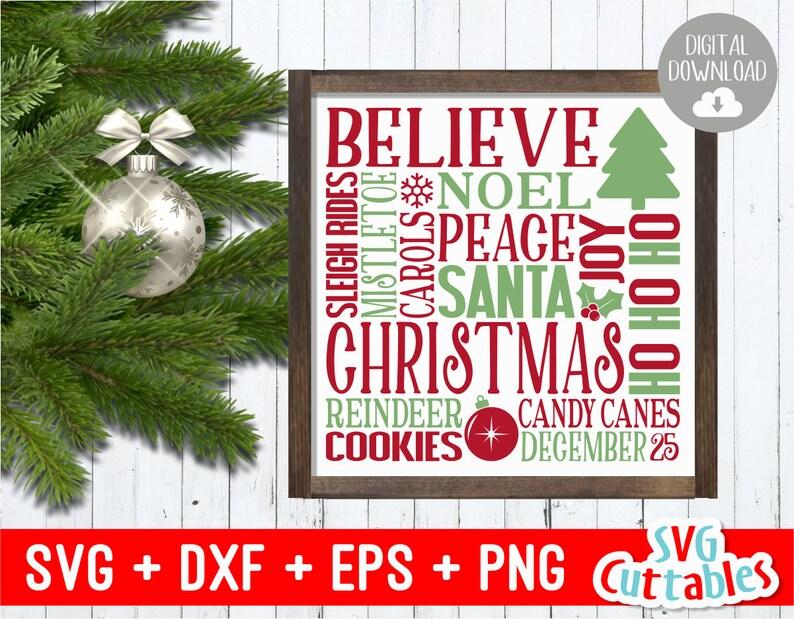 Christmas Subway Art.Christmas Subway Art Svg Christmas Svg Word Art Cut File Svg Eps Dxf Png Silhouette Cricut File Digital File